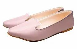 Slip On PU Ladies Baby Pink Belly, Size: 36 To 42