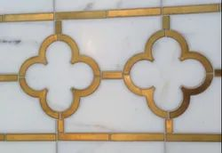 Marble Brass Inlay Cutting Services