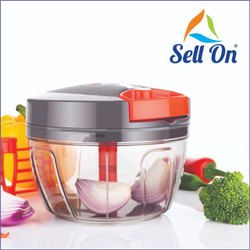 Handy And Compact Chopper Vegetable Cutter With 3 Blades For 550 Mal