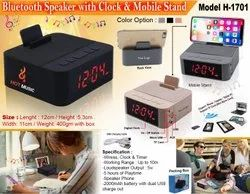 Model H-1701 Bluetooth Speaker With Clock & Mobile Stand