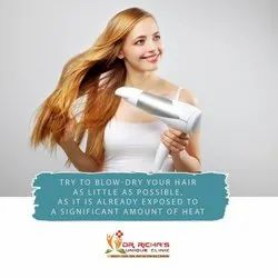 Try To Blow Dry Your Hair As Little As Possible.