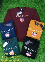 Full Sleeves Round Neck Sweatshirt, Machine Wash, Size: L To XXL