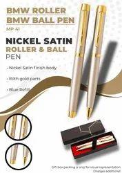 Nickel Satin Roller & Ball Pen