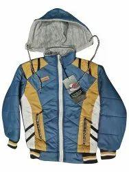Boy Blue Printed Jacket, Full Sleeves