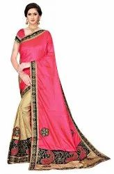 Janasya Women's Multicolor Silk Blend Embroidered Saree With Blouse Piece(BAHUBALI-Pack of 5)
