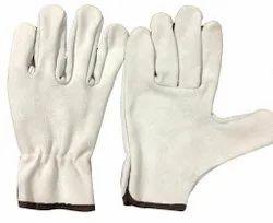 Industrial Split Leather Driving Gloves, Finger Type: Full Fingered