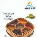 Plastic Masala Rangoli Box - 7 Sections - 700 ml, 1 Piece, Multicoloured
