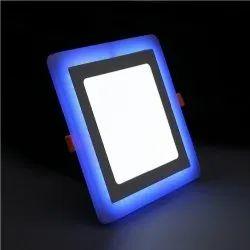 12W White Plus 4W Side Blue Square Surface Panel Light
