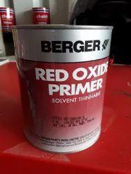 Berger Red Oxide Primer 1 Ltr, Brush,spray, Metal