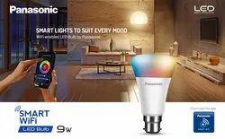 Panasonic 9W Smart WIFI Bulb, For Office, Base Type: B22