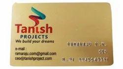Yellow Plastic PVC 3mm Visiting Card, Size: 85.mm X 55mm