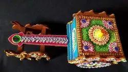 Multicolor Wood Decorative Arts