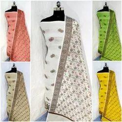 Cotton Ladies Casual Wear Printed Unstitched Salwar Suit
