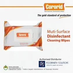 IPA Based Multi Surface Disinfectant Cleaning Wipes (Pack of 30)
