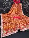 Designer Pink Brasso Saree
