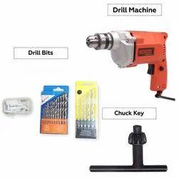 Cheston 2310.78.Box Red Drill Bit Guage 10mm Powerful Drill Machine Kit For Wall, Metal