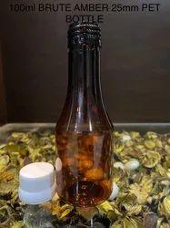 100ml Brute Amber 25mm Pet Bottle