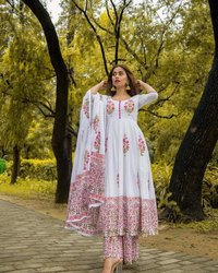 Ladies Printed Anarkali Kurti