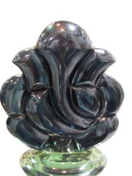 Black Glass Ganpati Statue, For Interior Decor, Size/Dimension: 15 Inch(height)