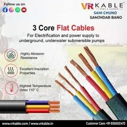 Submersible 3 Core Flate Cables 4.00sqmm