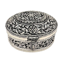 White Metal Jewellery Box For Gifting