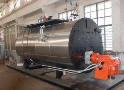 Oil & Gas Fired 500 Kg/hr Fully Wetback Steam Boiler IBR Approved