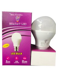 Aluminum and Plastic Cool daylight 5W Bharat LED Bulb