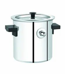 Round SS Vessel Pressure Cooker, Capacity: 10 Litre
