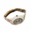 Moissanite Studded Diamond Watch, Mens Iced Out Wrist Watch 5