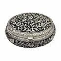 Metal Silver Plated Jewellery Box