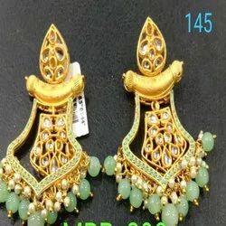 Western Kundan Earring Set For Women And Girl Bijoux