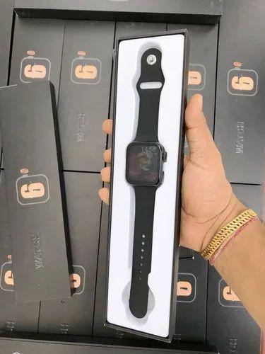 Black Silicone M99 Apple Logo On/ Off Smart Watch, 0.5 KG