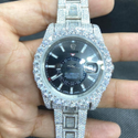 Moissanite Studded Iced Out Watch, EF/VVS Diamond, Date watch for Men 15
