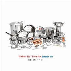 STAINLESS STEEL DINNER SET 101 PCS
