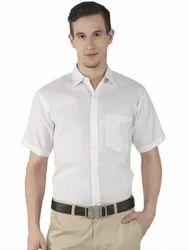 80-20 Plain White Handloom Shirt