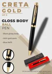 Glossy Body Ball Pen Creta Gold