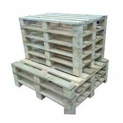 Soft Wood Rectangular Wooden Pallet, Capacity: 800 kg