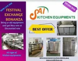 Stainless Steel(SS) Commercial Double Deck Four Tray Gas Oven, For Hotel & Restaurant