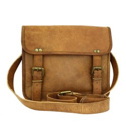 Double Belt Vintage Handmade Genuine Leather Handbag