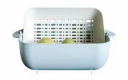 Plastic Unique Vegetables & Fruits Washing Basket, For Hotel/Restaurant, Rectangular