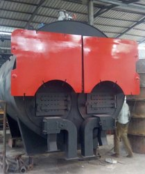 Solid Fuel Fired Twin Furnace Steam Boiler IBR Approved