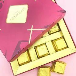 Paper Square Chocolate Box For Gift Purpose, Capacity: 9 Pieces, Size: Medium