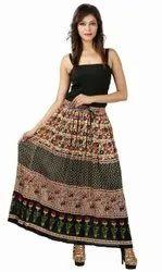 Ladies Bagru Print Skirt