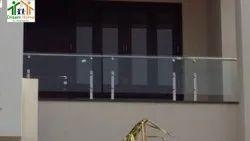 Deck SS Glass Balcony Railing, For Home