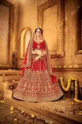 Bridal Lehenga Choli Red Color