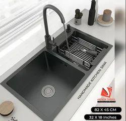 Double Grey Carysil Quartz Kitchen Sink