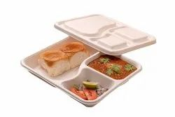 3CP Tray with Lid Bagasse