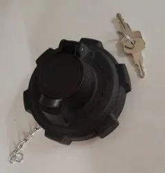 Black Plastic Truck Fuel Tank Cap, For Automotive, 3.5 Inch
