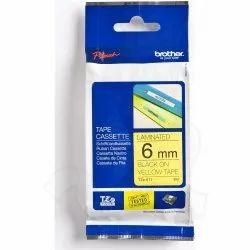 Tze-611 Black On Yellow 6mm X 8m