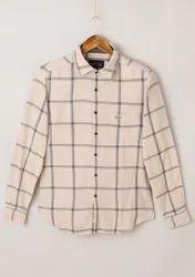 Flying Machine Cotton Formal Dark Checks Shirt, Handwash